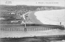 Fecamp France Calvaire Lighthouse Beach Scene Antique Postcard J79334