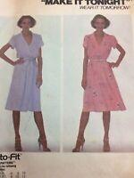 1981 McCalls 7442 Vintage Sewing Pattern Womens Dress Belt Size 12 14 16