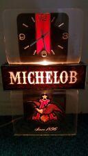 VINTAGE MICHELOB BEER LIGHTED CLOCK,TAVERN,BAR,GAME ROOM,SALOON ADVERTISING SIGN