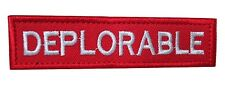 Deplorable Make America Great Donald Trump Embroidered Hook Loop MAGA Patch RED