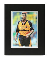 Keith Curle Signed 10x8 Photo Display Wolves Autograph Memorabilia COA