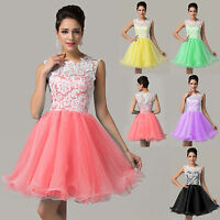 New Lace Short Cocktail Formal Wedding Prom Party Ball Bridesmaid Evening Dress