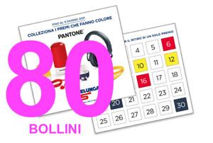 """80 Bollini Punti ESSELUNGA """"COLLEZIONE PANTONE"""" 2021"""