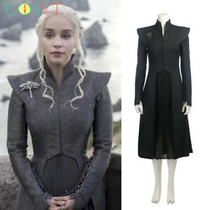 Game of Thrones 7 Mother of Dragons Daenerys Targaryen Cosplay Costume Dress