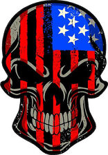 "#318 4"" USA American Merica Murica Flag SKULL Sticker Decal United States"