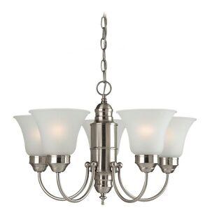 Sea Gull Lighting 31236-962 5-Light Linwood Brushed Nickel Chandelier