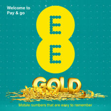 EE Pay As You Go PAYG Gold VIP Easy Number Memorable Mobile Number SIM Card