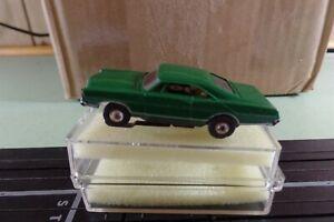 aurora 1967 ford galaxie slot car ho dark green used condition foam and case