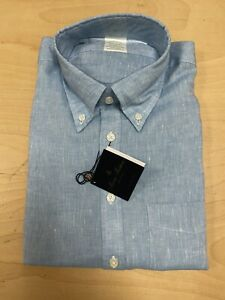 Brooks Brothers Linen Button Down (2 shirts) NWT Milano Blue and Beige (Medium)