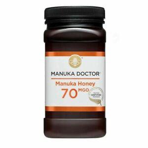 MANUKA DOCTOR, MANUKA HONEY, 70 MGO,Pure Tested Certified New Zealand LARGE 1KG