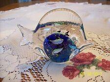 Fish Aquarium Overlay Art Glass Paperweight