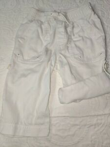 Janie & Jack boys sz. 6-12 mo. white roll up/down pants. Adorable