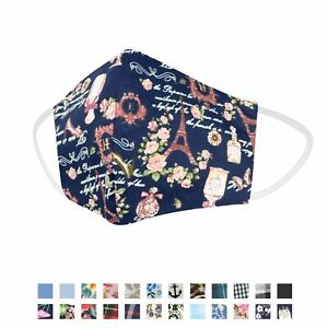 Face Coverings - Handmade Reusable Cotton Face Masks Curved Shape 2