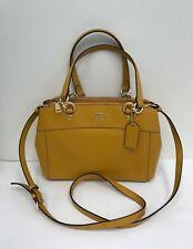NWT Coach Crossgrain Leather Mini Brooke Carryall Handbag  F25395 - Goldenrad