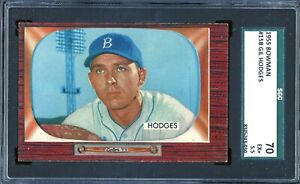 1955 Bowman Baseball #158 Gil Hodges SGC 5.5 *d2