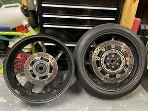 BMW HP Forged Wheels S1000RR Black With Discs and ABS Rings Track Race