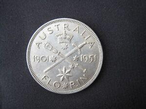 Florin 1951  Jubilee Commemorative Silver