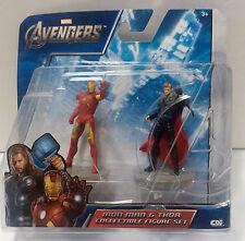 "Marvel Avengers Iron Man Thor 2.5"" Action Figures 2012 Damaged Package"