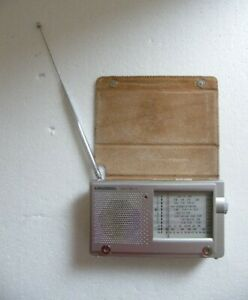 VINTAGE GRUNDIG YACHT BOY 10 WORLD BAND RADIO LEATHER CASE BATTERY/DC WORKING