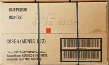 1 x CASE A  US ARMY MRE rations meal ready to eat camping survival exp 2023