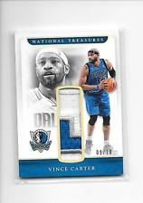 2016-17 National Treasures Vince Carter Gold Retro Materials 3 Color Patch 9/10