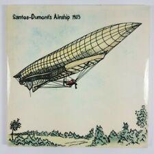More details for retro hereford tiles ltd santos-dumont's airship 1903 ceramic tile 6
