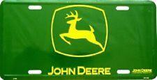 John Deere Logo Green Background Embossed Metal Novelty License Plate