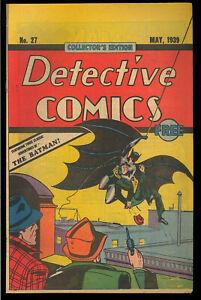 Detective Comics #27 (Reprint) Giveaway 1st Batman, Joker DC 1984 FN-VF