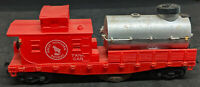 HO Scale Life-Like GN Great Northern Track Cleaning Tank Car.  VINTAGE, RED