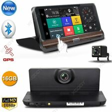 """Android 7"""" HD 1080P Dual Lens Car DVR Dash Cam Rearview Camera Recorder GPS Wifi"""