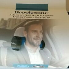 BROOKSTONE Automotive Neck Support Cushion Memory Foam +Cooling Gel Car Headrest