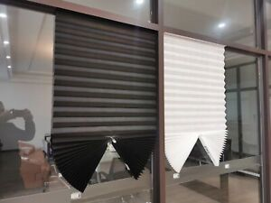 Windows Blinds Half Blackout Shades Light Filter Pleated Curtains Paper Curtain