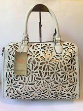 Colette Green White and Gold Floral Laser Cut Large Tote Shoulder Handbag