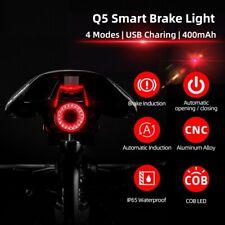 Mountain Bike Auto Brake Sensing Light Waterproof Rear Tail Light Rechargeable