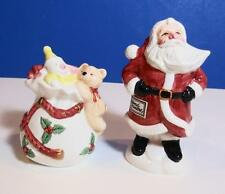 Fitz And Floyd Old World Santa & Bag Salt & Pepper Set New Old Stock Free Ship
