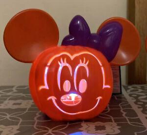New 🎃 Disney Minnie Mouse Light Up Mini Pumpkin
