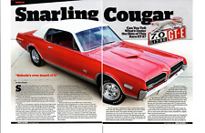 1968 MERCURY COUGAR 7.0 LITER GT-E 427/390 HP ~ NICE 4-PAGE ARTICLE / AD