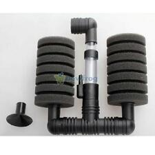 Aquarium Biochemical Sponge Filter Fish Tank Air Pump + Suction Cup Double Head