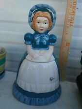 "Vintage Blue Bonnet Butter 'Sue' 1989 Nabisco Ceramic Cookie Jar 11"" Tall"