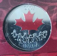 2001 Canada 25 Cents Canada Day Celebration - Original Packaging