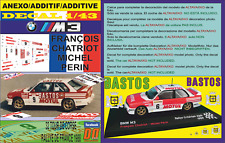 ANEXO DECAL 1/43 BMW M3 F.CHATRIOT T.DE CORSE 1988 4th (12)