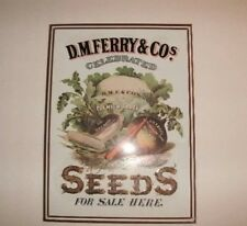 D.M. Ferry & Co. Seeds For Sale Here Metal Sign
