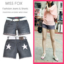 MISS FOX Ladies' Elsa Grey Denim Shorts SIZE 8