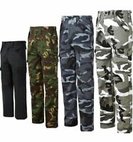 Mens Multi Pockets Trouser Combat Womens Fancy Zip Fly Cargo Style Work Pants