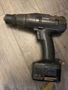 Craftsman Industrial 12v Drill Driver 3/8 in. 973.271960 With Battery Untested