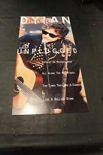 "Bob Dylan Unplugged Mtv Poster 12"" x 24"" Ex - D5"