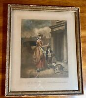 Antique Engraving Wheatley Cries of London Plate 4 Do You Want Any Matches    LS