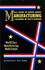 All I Need to Know About Manufacturing I Learned in Joe's Garage: World Class Ma