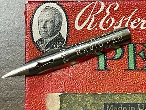 RARE Esterbrook 914 Radio Pen Charles M. Schulz Exclusive Nib for Peanuts Comics