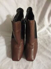 SAM EDELMAN ZOE  Bootie leather Suede Ankle Boots 8.5